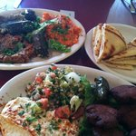 Mediterranean Falafel Plate and Tunisian Combo Plate