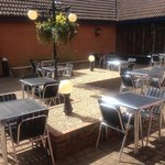 Sun trap at the mill house!