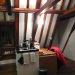The efficient little kitchenette area.