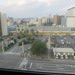 部屋から宮崎駅方面