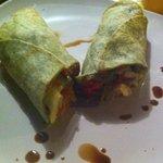 Grill veggie wrap