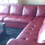 Lounge area by big screen