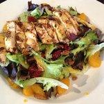 Grilled chicken, orange poppyseed salad