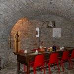 Centuries old cave where breakfast is served
