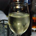 Generous wine pour