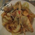 Fried shrimp and fish