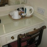 Tea set up in room