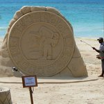 Amazing sand sculptures can be found on the beach