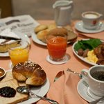 Continental Breakfast table