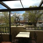 gorges bar and grill view of the plaza in Taos