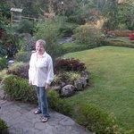 I am in the garden, it is beautiful