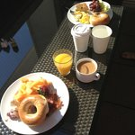 Breakfast on the terrace was very nice