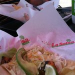 grilled fish tacos with avacado