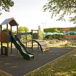 Kids play area with outside seating