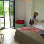 preparazione camera