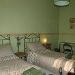camera verde doppia