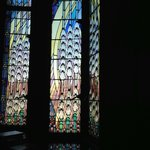 stained glass window, sanctuary