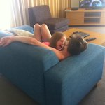 kids lazing in loungeroom