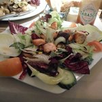 Grilled Salmon & Citrus dressing Salad-Yummy!