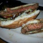 undercooked hamburger