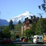 Viste del Volcan Villarica,a la vuelta del hotel