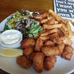 good old scampi and chips