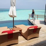 The amazing terrace of Pool Water Villa 311