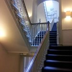 Stairways to bedrooms on higher levels