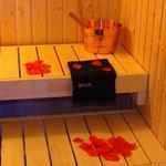 Avvolgente sauna...