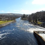 Pitlochry Hydroelectric Dam and Fish Ladder