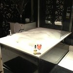 the amazing jacuzzi bath in the bridal suite!