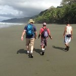 Hiking from Carate to the Ranger Station with Our Guide