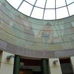 Illustrated dome of interpretation centre