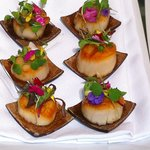 honey glazed sea scallops