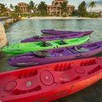 Coooco Beach kayak rental looking back toward resort