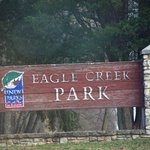 The ruggedness of the sign belies the beauty of the park!  Time for an updated sign?!