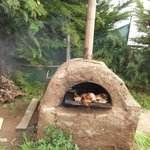 Typical chilean mud oven