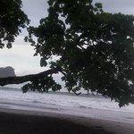 Vista de la playa, ni bien salis del complejo. DE LUJO