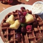 Waffles with fruit and yogurt at Food Dance