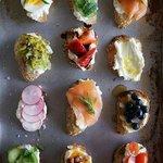 "assorted crostini bread ""tapas style"""