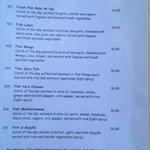 OTRA VEZ Restaurant  - seafood menu page