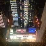 View of Time Square from high floor