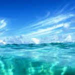 clear blue waters and sky