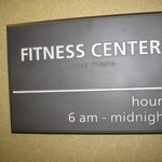Fitness Center signage