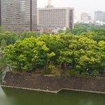 休憩所からお堀と東京駅が見えます。