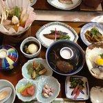 Tradition Japanese dinner.
