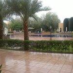 rain and pool