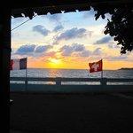 Sonnenuntergang vom Restaurant aus gesehen