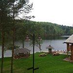 Russian sauna near the lake