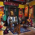 Pièce tibétaine de la maison d'Alexandra